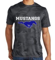Mustang men's camo dri-fit shirt