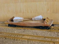 N Scale 40' Mill Car w/ 2 Ingots