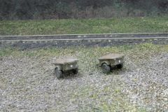 US Army 1/4 Ton Cargo Trailers. Package of 2
