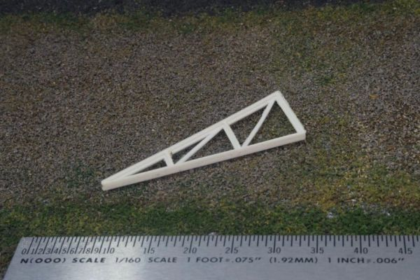 N Scale Steel Trusses, 28' Mono