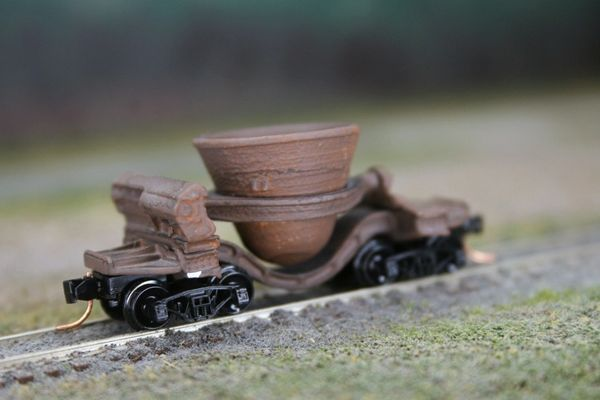 "N Scale ""Dead Line"" Single Thimble Slag Car"