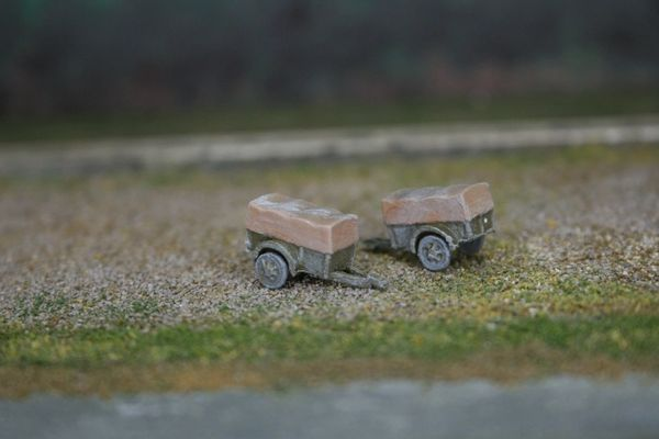 (2) US Army 1 Ton Cargo Trailers