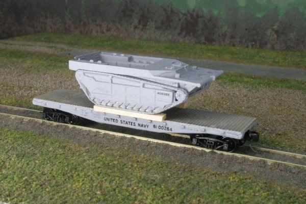 LVT-4 AMTRAC on US Navy Flatcar