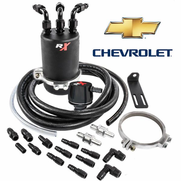 DUAL VALVE RX CATCH CAN CHEVY SILVERADO, CANYON, COLORADO, GMC SIERRA 2014, 2015, 2016, 2017, 2018, 2019, 2020, 2021