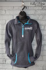 On Lake Time 1/4 Zip (Grey)