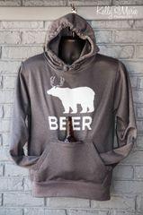 Beer Tailgate Hoody (Charcoal)