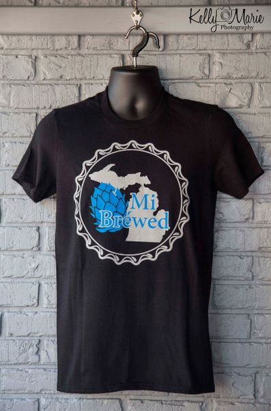 Mi Brewed T-Shirt (Black with Silver ink)