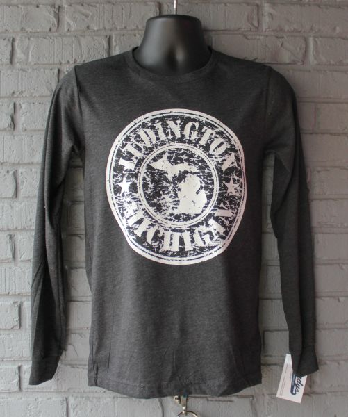 Stamp Long Sleeve (Charcoal Black Triblend)