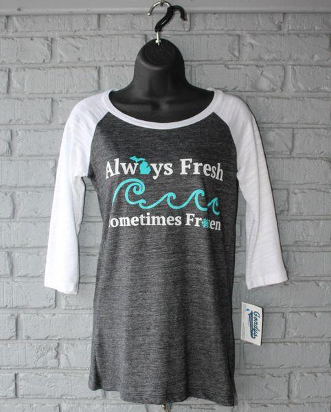 Always Fresh 3/4 Sleeve Tee (Black/White)