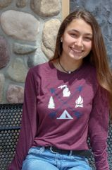 Arrows Michigan Long Sleeve (Maroon Triblend)