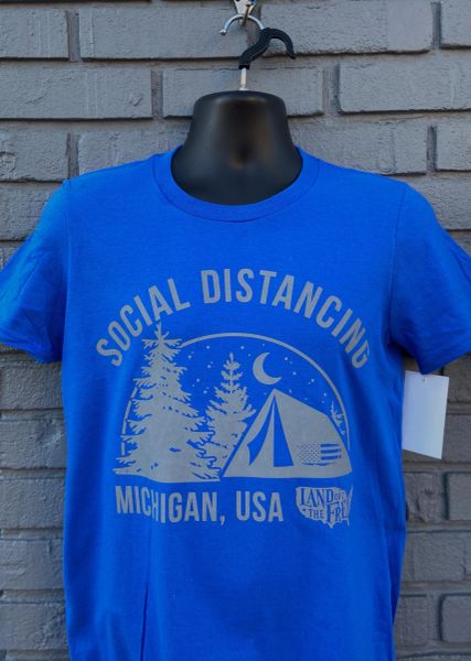 Social Distancing Tee (Blue)