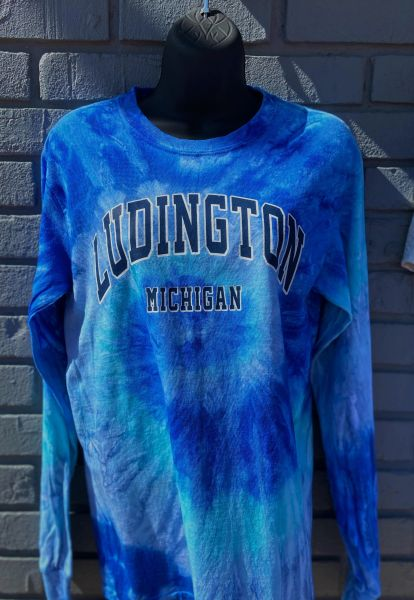 Long Sleeve Tie Dye Classic Ludington (Royal Cyclone)