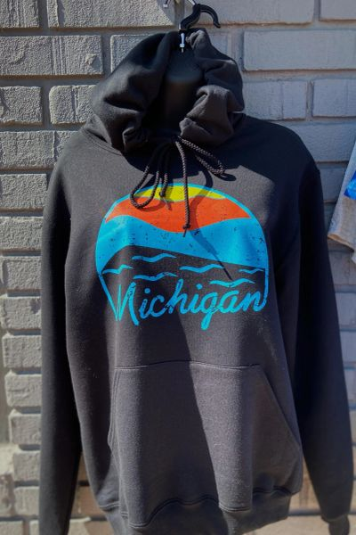 Basic Sweatshirt Michigan Sunset (Black)