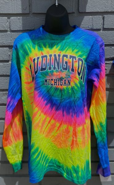 Heavyweight Long Sleeve T-Shirt (Neon Rainbow)