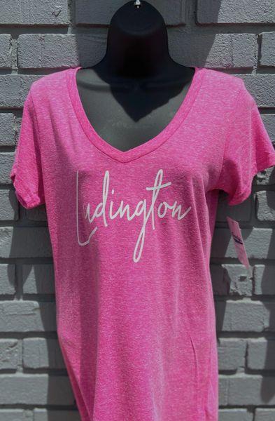 V-Neck T-Shirt Ludington (Rose Violet)