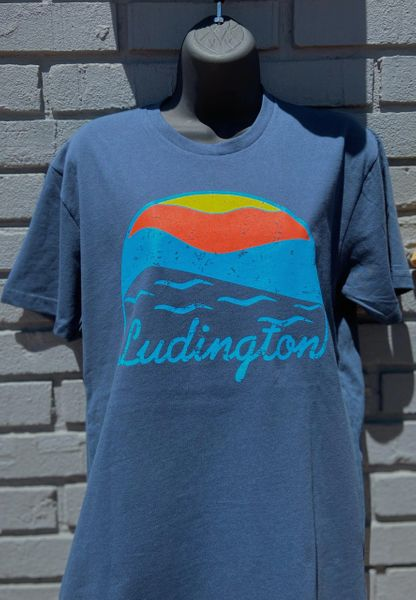 Triblend Short Sleeve T-Shirt Ludington Sunset (Vintage Navy)