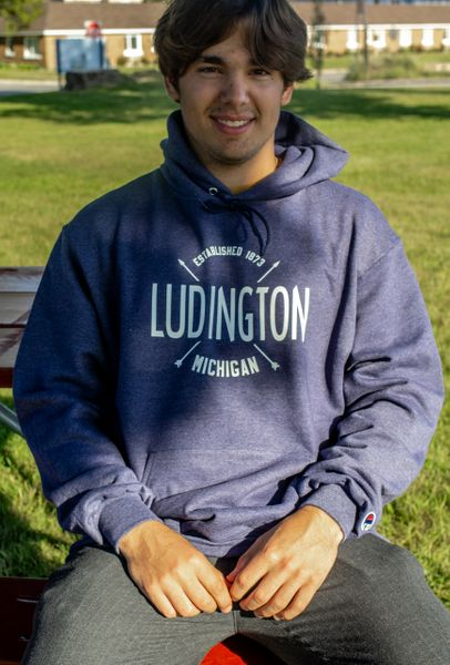 Champion Eco Hooded Sweatshirt Ludington (Heather Navy)
