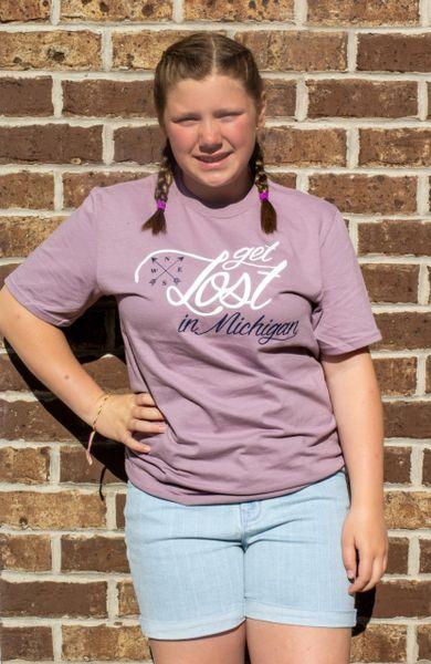 Lightweight Tee Shirt Get Lost in Michigan (Paragon purple)