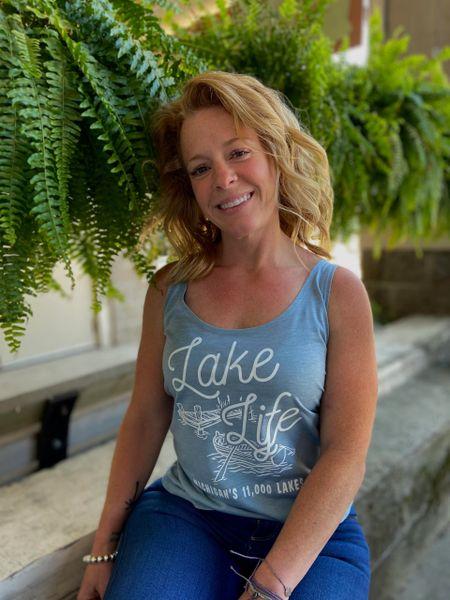 Women's Festival Tank Lake Life (Stonewash Blue)