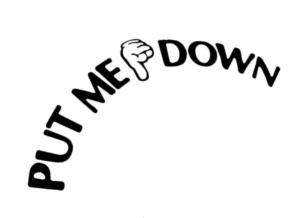 put me down decal