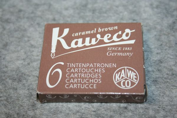 Kaweco - Fountain Pen Ink Cartridges - Caramel Brown - Brown ink