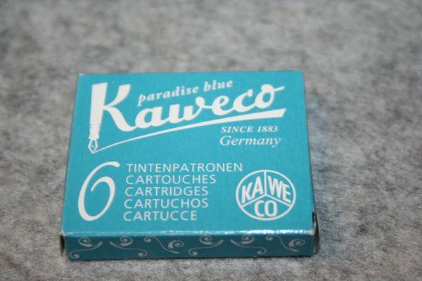 Kaweco - Fountain Pen Ink Cartridges - Paradise Blue Ink - Blue Ink
