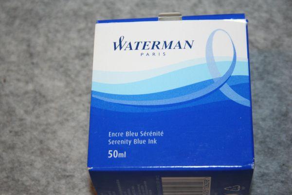 Waterman Bottled Ink, Serenity Blue, 50 mL