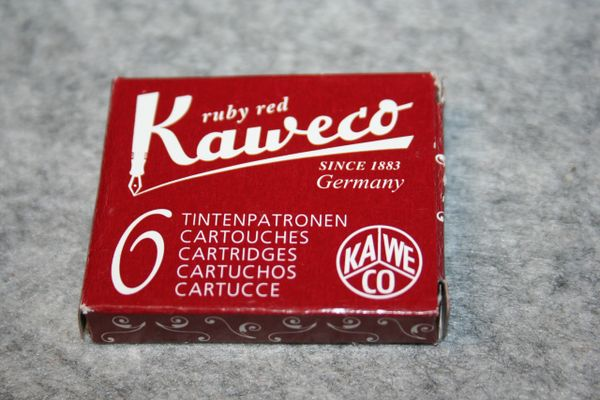 Kaweco - Fountain Pen Ink Cartridges - Ruby Red - Red Ink