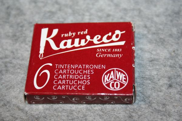 Kaweco Fountain Pen Ink Cartridges - Ruby Red