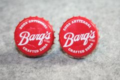 Handcrafted Cuff Links - Barq's Artisinal Root Beer Cap Cufflinks with Bright 24ct Gold Plated Bezels