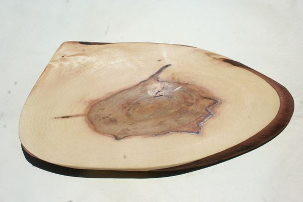 Handcrafted (Triangular Shaped) Live Edge Walnut Hardwood Cheese Board/Charcuterie Board