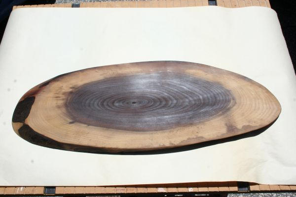 Handcrafted (Large Oval) Live Edge Walnut Hardwood Cheese Board/Charcuterie Board