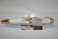 Handcrafted Elk Antler Pen - Elk Antler Cigar Twist Pen in a Bright 24ct Gold and Satin Gold Finish