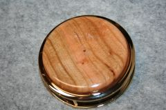 Handcrafted North American Cherry Large Magnifying Glass Paperweight in a Beautiful 24 ct Gold Finish