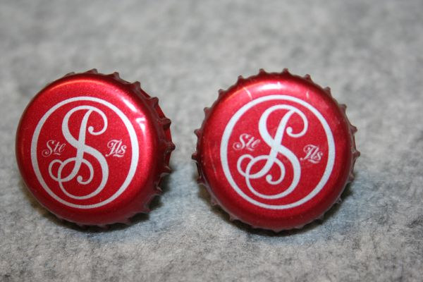 Handcrafted Bottle Cap Cuff Links - Smirnoff Ice Bottle Cap Cufflinks with Bright 24ct Gold Plated Bezels