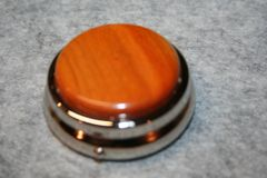 Handcrafted Wooden Mini Pill/Secret Box - Beautiful South American Paela in a Pewter Finished Pill Box/Secret Box