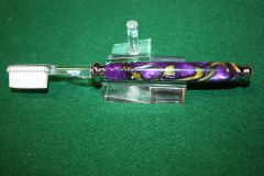 Handcrafted Tooth Brush in Molten Swirl Acrylic Finished with Bright Chrome Fittings