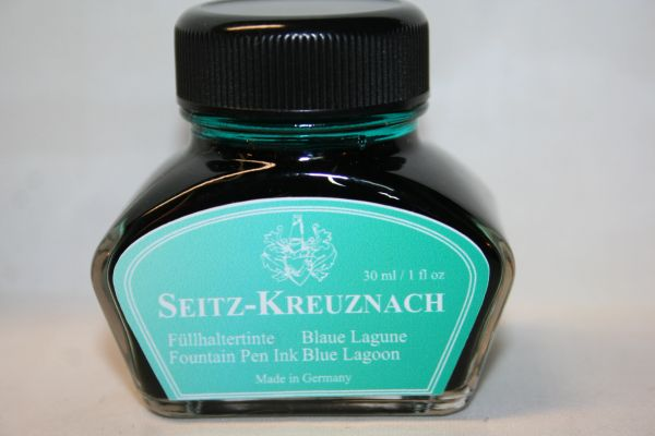 Fountain Pen Ink Bottle - Seitz-Kreuznach Ink - Blue Lagoon Ink - Blue Ink -Fountain Pen Ink - Bottled Ink