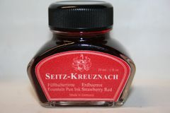 Fountain Pen Ink Bottle - Seitz-Kreuznach Strawberry Red Fountain Pen Ink