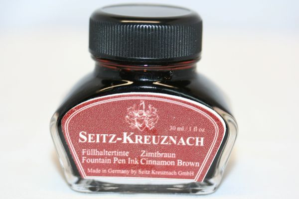 Fountain Pen Ink Bottle - Seitz-Kreuznach Ink - Cinnamon Brown Ink - Brown ink - Fountain Pen Ink - Bottled Ink