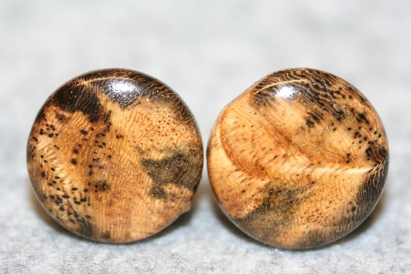 Handcrafted Exquisite Hawaiian Pheasantwood Cuff Links with 24 ct Gold Plated Bezels