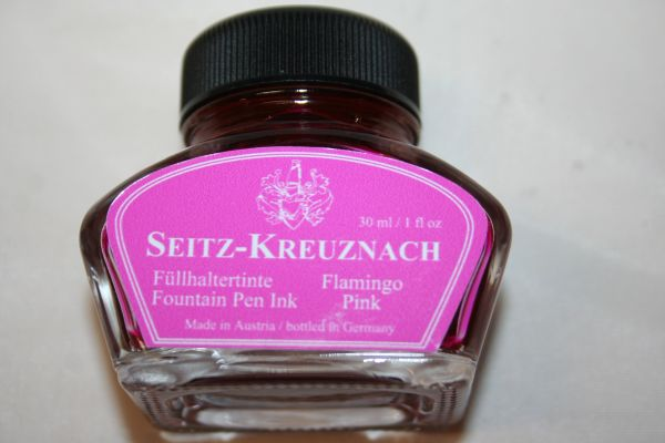 Fountain Pen Ink Bottle - Seitz-Kreuznach Ink - Flamingo Pink Ink - Pink Ink - Fountain Pen Ink - Bottled Ink