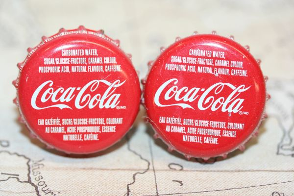 Cuff Links - Cufflinks - Coca Cola (Canadian) Cap Cufflinks - Handcrafted Cuff Links - Coca Cola (Canadian) Cap Cuff Links - Coke Bottle Cap Cufflinks - Coke Bottle Cap Cuff Links - Canadian Coca Cola Cufflinks