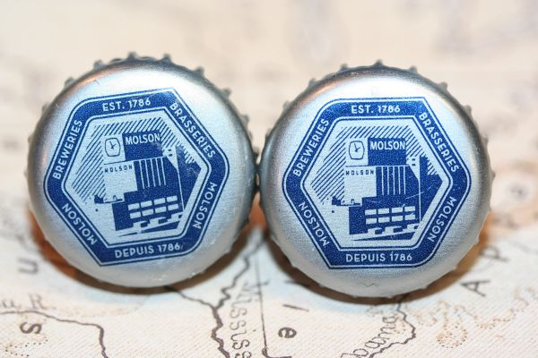 Cufflinks - Cuff Links - Molson Canadian NEW Beer Cap Cufflinks - Molson Canadian Beer Cap Cufflinks - Handcrafted Cuff Links - Molson Canadian Beer Cap Cuff Links NEW - Bottle Cap Cufflinks - Molson Canadian Beer Cap Cuff Links - Beer Cap Cufflinks