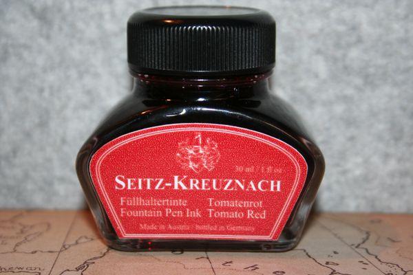 Fountain Pen Ink Bottle - Seitz-Kreuznach Tomato Red - Fountain Pen Ink