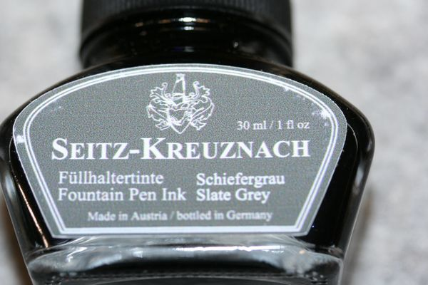 Fountain Pen Ink - Slate Grey Fountain Pen Ink - Seitz-Kreuznach Ink - Grey Pen Ink - Slate Grey - Slate Gray - Ink Bottle