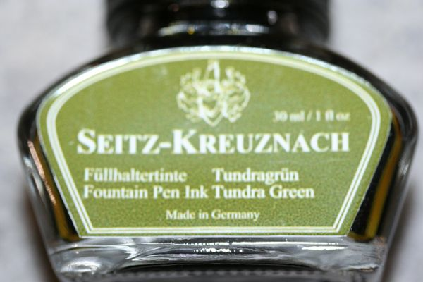 Fountain Pen Ink - Tundra Green Fountain Pen Ink - Seitz-Kreuznach Ink - Green Pen Ink - Tundra Green - Ink Bottle