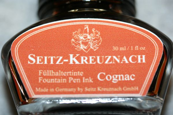 Fountain Pen Ink - Cognac Fountain Pen Ink - Seitz-Kreuznach Ink - Brown Pen Ink - Cognac - Ink Bottle