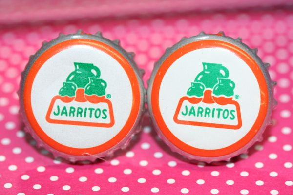 Cufflinks - Cuff Links - Jarritos (Mexican) Soda Cap Cufflinks - Bottle Cap Cuflinks - Groomsman Gift - Soda Cap Cuff Links - Jarritos Soda