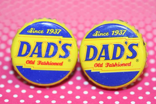 Cufflinks - Cuff Links - Dad's Root Beer Cap Cufflinks - Bottle Cap Cufflinks - Groomsman Gift - Handcrafted Cuff Links - Dads Cuff Links